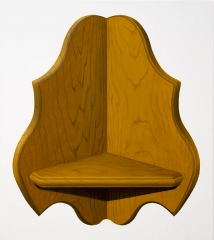 o. T. (Eckregal II), Öl auf Leinwand, 56 x 50 cm, 2014