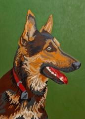 o. T. (Schäferhund), Öl auf Leinwand, 160 x 115 cm, 2010