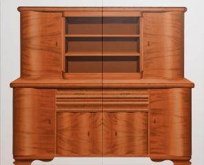 o. T. (Wohnküchenschrank), Öl auf Leinwand, 180 x 220 cm, 2011