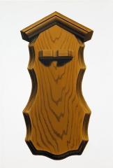 o. T. (Zinnlöffelhalter 2), Öl auf Leinwand, 35 x 24 cm, 2013