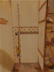 DAS VERLIES, Acryl auf Leinwand, 31 x 23 cm, 2011