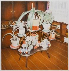 DIE MITWISSER, Farbstift auf Papier, 52 x 50 cm, 2018