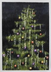 NACH WEIHNACHTEN, Farbstift auf Papier, 30 x 21 cm, 2018