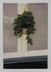 o. T., Farbstift auf Papier, 14,8 x 10,5 cm, 2018