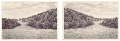 HEIMATLAND III, 2-teilig, Graphit auf Papier, je 10 x 14,5 cm, 2012