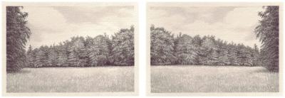 HEIMATLAND IV, 2-teilig, Graphit auf Papier, je 10 x 14,5 cm, 2012