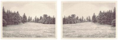 HEIMATLAND V, 2-teilig, Graphit auf Papier, je 10 x 14,5 cm, 2012