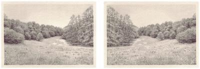 HEIMATLAND X, 2-teilig, Graphit auf Papier, je 10 x 14,5 cm, 2012