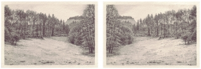 HEIMATLAND XI, 2-teilig, Graphit auf Papier, je 10 x 14,5 cm, 2012