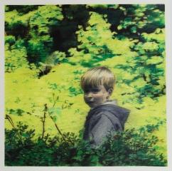 DIE AUFFORDERUNG, Farbstift auf Papier, 35 x 35 cm, 2017