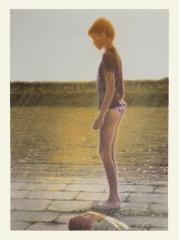 o. T., Farbstift auf Papier, 34 x 25 cm, 2013