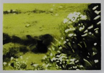 DIE KATZE II, Farbstift auf Papier, 15 x 21 cm, 2018