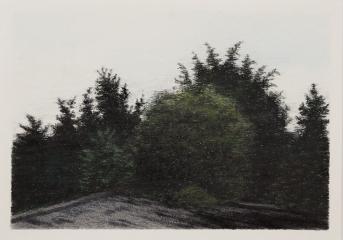 DIE AUSSICHT, Farbstift auf Papier, 15 x 21 cm, 2018