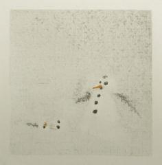 DER UNFALL, Farbstift auf Papier, 10 x 10cm, 2017