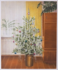 DIE ERWARTUNG, Farbstift auf Papier, 59,5 x 50 cm, 2018