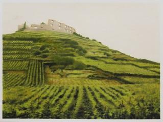 o. T., Farbstift auf Papier, 30 x 39,5 cm, 2018